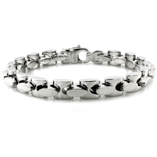 Men's Stainless Steel Marina Style Link Bracelet - 9 Inches