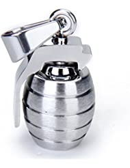 Imported Stainless Steel Grenade Charm Pendant For Men - Silvery
