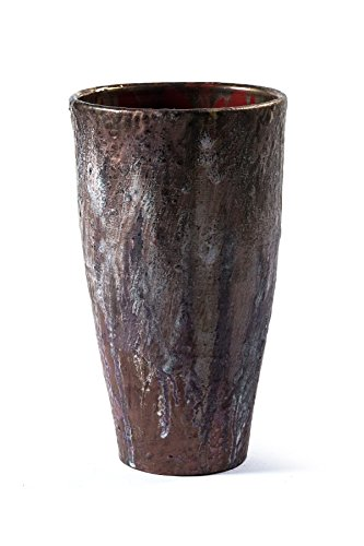 ceramic-vase-hand-glazed-interior-matte-gold-with-blazing-and-antiqued-coating-exterior-rough-and-ma