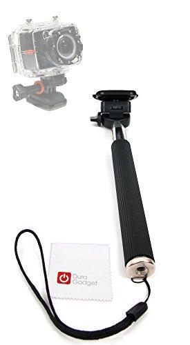 selfie-stick-duragadget-pour-kodak-ze2-camescope-de-poche-liquid-image-ego-perche-telescopique-ajust