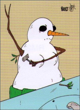 Rubes Snowman Shaving Magnet