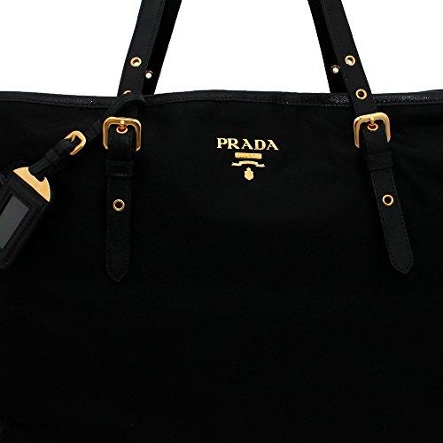 d25f00d0f18d Prada BR4997 Nero Tessuto Suffian Black Nylon and Leather Shopping Tote Bag