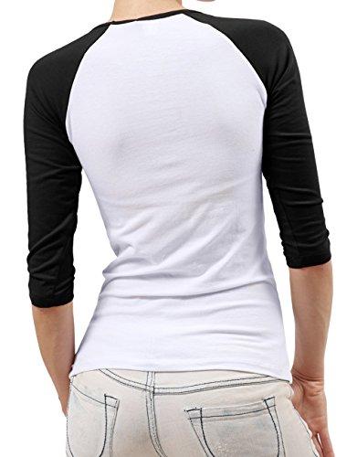 JULIA ジャングル・ブック バルー バギーラ キャラ 女性着 コントラストカラー Tシャツ ファニー 普段着 Black
