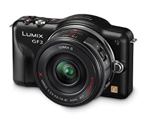 Panasonic Lumix DMC-GF3X Kit compact hybride 12 Mpix Noir + Kit Objectif 14-42 mm PowerZoom