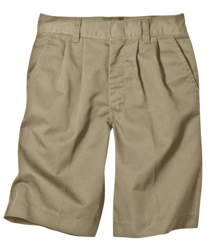 Dickies Little Boys' Pleated Front School Uniform Short, Khaki, 5 Regular