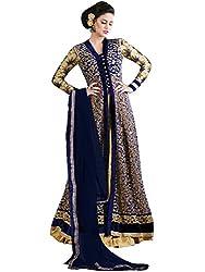 Orange Fab Women's Velvet Anarkali Salwar Suit Dress Material