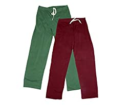 IndiWeaves Women Super Combo Pack 4 (Pack of 2 Lower/Track Pant and 2 T-Shirt)_Green::Maroon::Black ::White_L