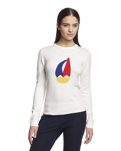 Band of Outsiders Women's Sailboat Intarsia Sweater