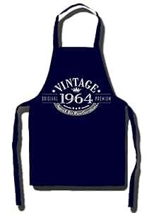 1964 VINTAGE YEAR - Cadeau d'anniversaire 51 ans Tablier Bleu marine