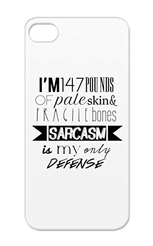 White Shockproof Funny Teen Wolf Jokes Stiles Stilinski Sarcasm Funny TPU Case Cover For Iphone 5/5s Sarcasm