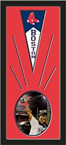 Boston Red Sox Wool Felt Mini Pennant & David Ortiz Photo - Framed With Team... by Art and More, Davenport, IA