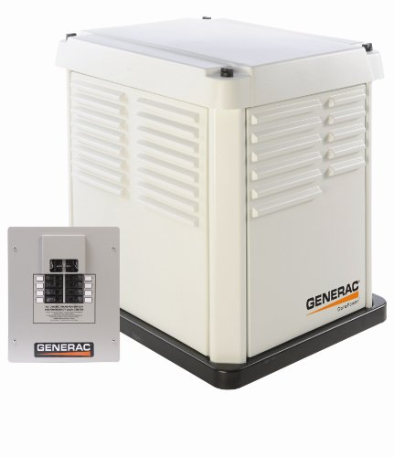 Generac CorePower Series 5837 7,000 Watt Air-Cooled Natural Gas/Liquid Propane Powered Standby Generator With Transfer Switch