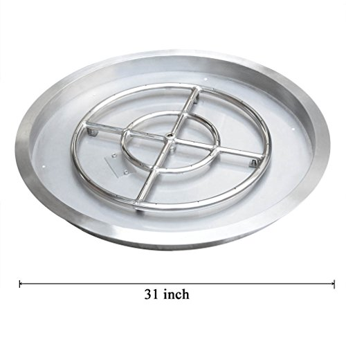 Stanbroil Stainless Steel Round Drop-In Fire Pit Burner Ring Pan, 31-Inch (Build In Grill compare prices)