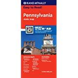 Rand McNally Easy to Read! Pennsylvania State Map