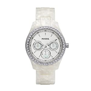 Fossil ES2790 Stella Resin Watch - Pearlized White