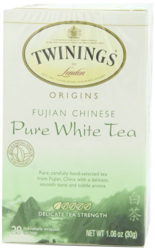 Twinings Fujian Chinese Pure White Tea, 20-Count Tea Bags (Pack of 6)