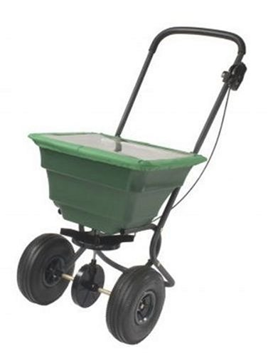 Precision Products 75-Pound Capacity Broadcast Spreader with Pneumatic Tires and