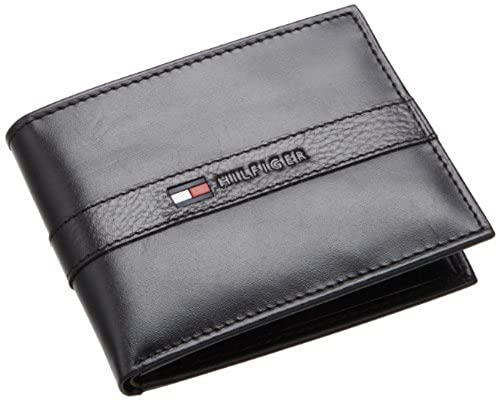 11. Tommy Hilfiger Men's Leather Ranger Passcase Wallet