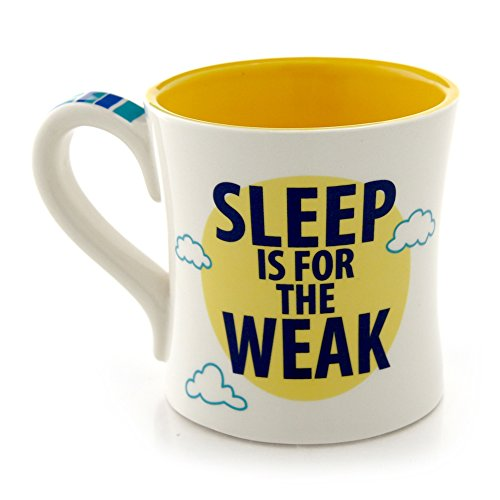 Sleep is For the Weak, Large Funny Coffee Mug for New Mom or Dad, 22-ounce, Oversized
