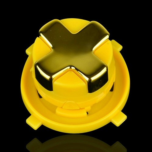 Transforming D-Pad For New Version Of Xbox 360 Controller (Gold Chrome With Yellow Base)