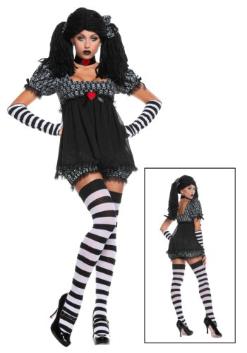 Fun Costumes Girls Exclusive Sexy Gothic Rag Doll