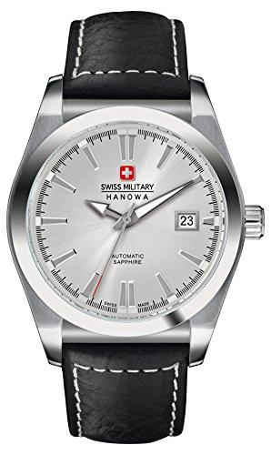 Swiss Military Hanowa - 05-4194.04.001 - Montre Homme - Automatique - Analogique - Bracelet Cuir Noir