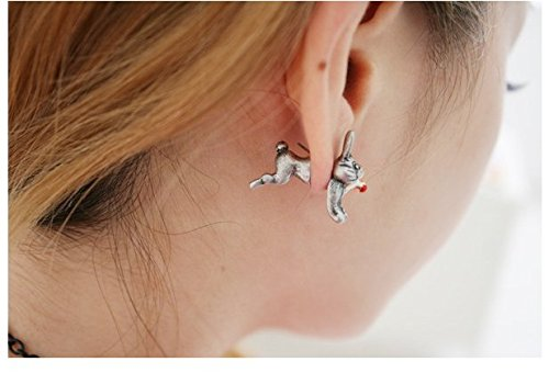 Rabbit Earrings! How Cute!