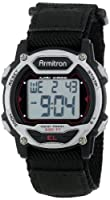 Armitron Women's 457004BLK Silver-Tone and Black Chronograph Digital Sport Watch by Armitron