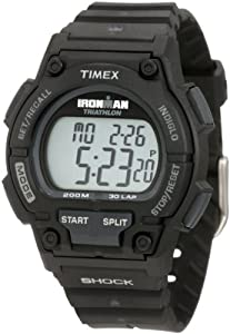 Timex Men's T5K196 Ironman Classic Shock 30-Lap Black Resin Strap Watch