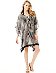 Zebra Print Cover-Up Kaftan