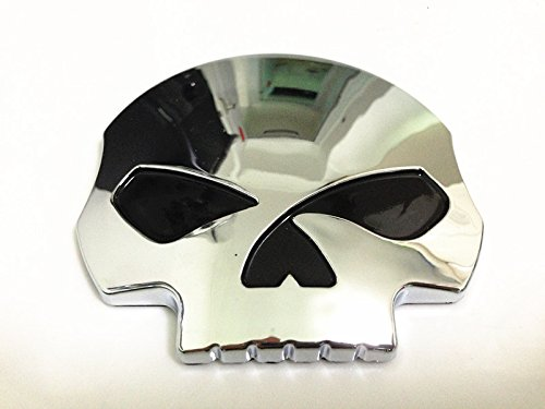 3d Chrome Skull Skeleton Fuel Gas Tank Pad Sticker Decal for Suzuki Gsxr Honda Cbr Kawasaki Zx6r Yamaha R1 R6 Yzf (Gsxr Decals compare prices)