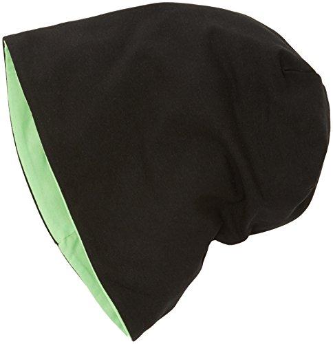 MSTRDS Jersey Beanie Reversible, Berretti a Maglia Donna, Mehrfarbig (Black/Neongreen 10377,3897), Taglia Unica (Taglia Unica)