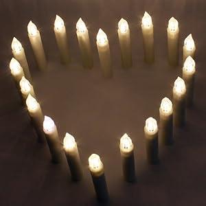 koopower lot de 20 bougies led 224 piles sans flammes sans fil avec t 233 l 233 commande 224 distance pour