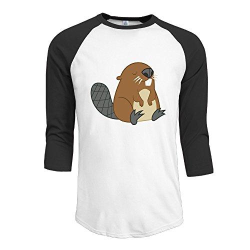 mans-beaver-logo-raglan-t-shirt-half-sleeve-t-shirts