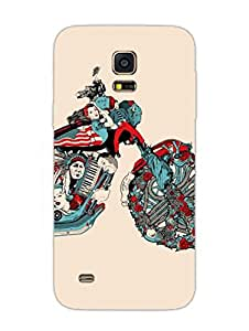 Justgirlythings The History Of American Bike Legacy Hard Back Case Cover For Samsung S5 Mini Matte Finish