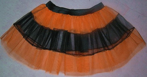 Uv Neon Orange V Black Stripe Mini Tutu Skirt Petticoat Punk Rave Dance Christmas Halloween Fancy Costume Dress Party Free Shipping USA
