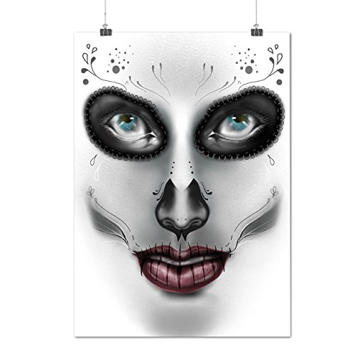 [Sugar Skull Make Up Beauty Face Matte/Glossy Poster A3 (12x17 inches) | Wellcoda] (Sugar Skull Costume Tumblr)