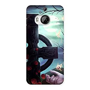 Delighted Crossed Circle Multicolor Back Case Cover for HTC One M9 Plus