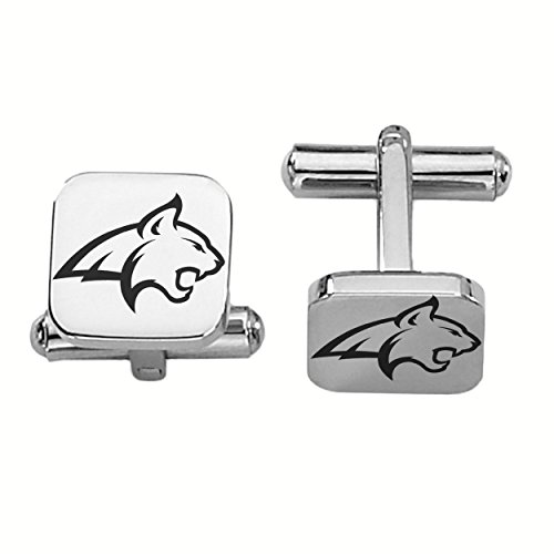 Montana State Fighting Bobcats Stainless Steel Square Cufflinks