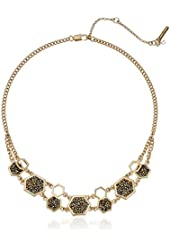 "Kenneth Cole New York ""Sprinkle Stone"" Mixed Chain Gold Necklace"