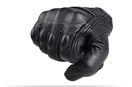 Size L Retro Motorcycle racing gloves Motocross Waterproof Moto full finger glove Windproof leather Touch gloves 5