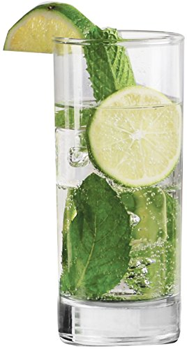 Circleware Mojito Sling Glass Cocktail Drinking Glasses Set, 14.5 Ounce, Set of 4, Limited Edition Glassware Drinkware