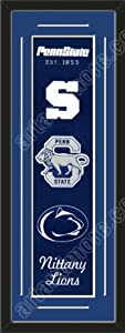 Heritage Banner Of Penn State Nittany Lions With Team Color Double Matting-Framed... by Art and More, Davenport, IA