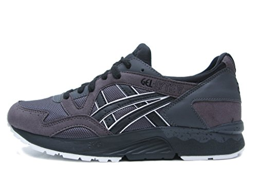 ASICS Men's Gel-Lyte V Fashion Sneaker, Dark Grey/Black, 11 M US