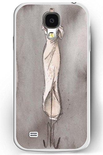 Sprawl Love Melody Elegant Design Galaxy S4 Iv Hard Plastic Cover Case For Women -- Pencil Sketch For Wedding Dress