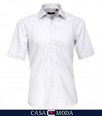 VENTI Hemd Tailliert Kurzarm Silbergrau Kent Kragen 100% feinste Baumwolle 37