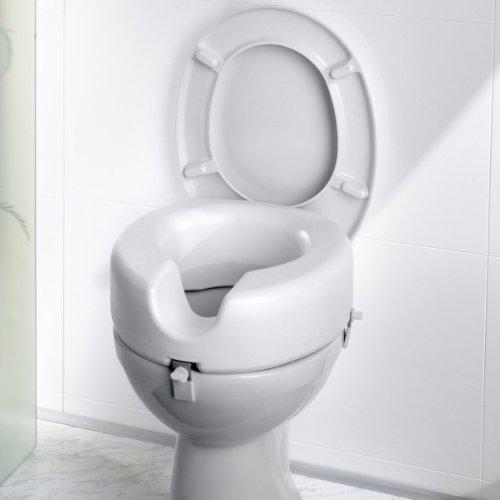 WC-Sitzerhöhung, Toilettensitzerhöhung, Toilettenaufsatz, Kunststoff weiß