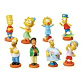 The Simpsons Mini Body Bobble Figure – Vending Machine Toys :Complete Set of 8 Figures