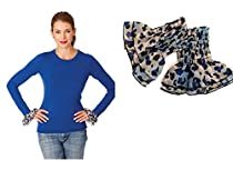 Invisibelt Cuffs - Removable Elastic KCuffs (Blue Leopard)