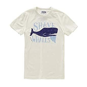 Shave The Whales Tee Color: Blanc